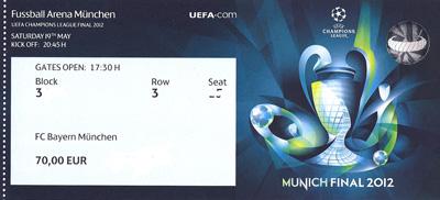 Championsleague Finale Karten