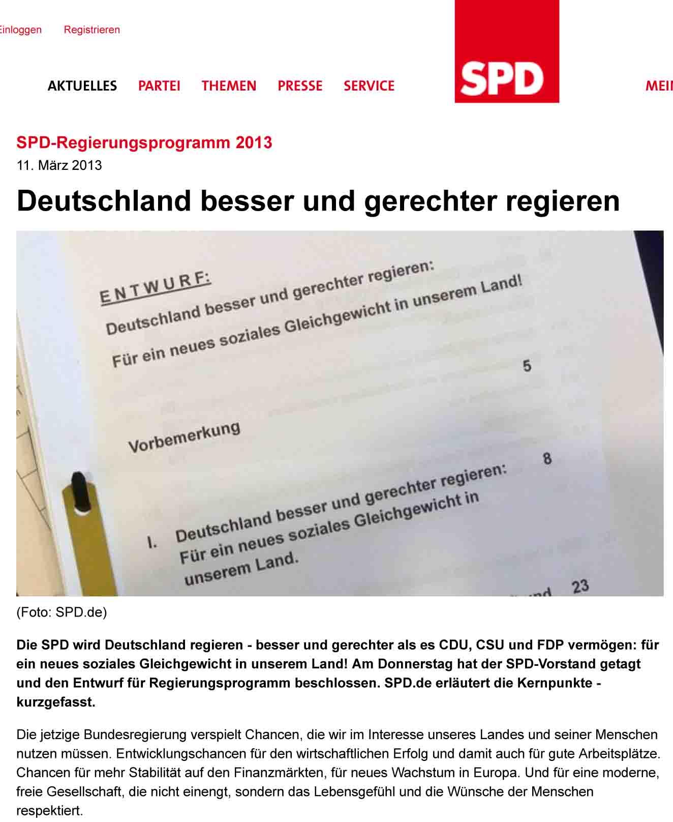 Deutschland besser und gerechter regieren | Sozialdemokratische