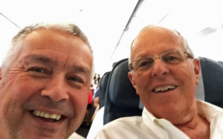Wolfgang Stock und der neue Präsident Perus, Pedro Pablo Kuczynski